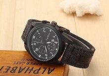 Marca Del Deporte Militar Relojes de Moda Casual Tres falso Reloj de Cuarzo Análogo de Los Hombres cinturón de Tela Nueva SOKI Lujo Relogio Del Reloj de pulsera