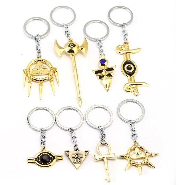 HSIC Surrounding Game Millennium Keychains Seven Arcs Lego Eye Balance Key rings Car Key Chain Chaveiro for Men Boys 12049