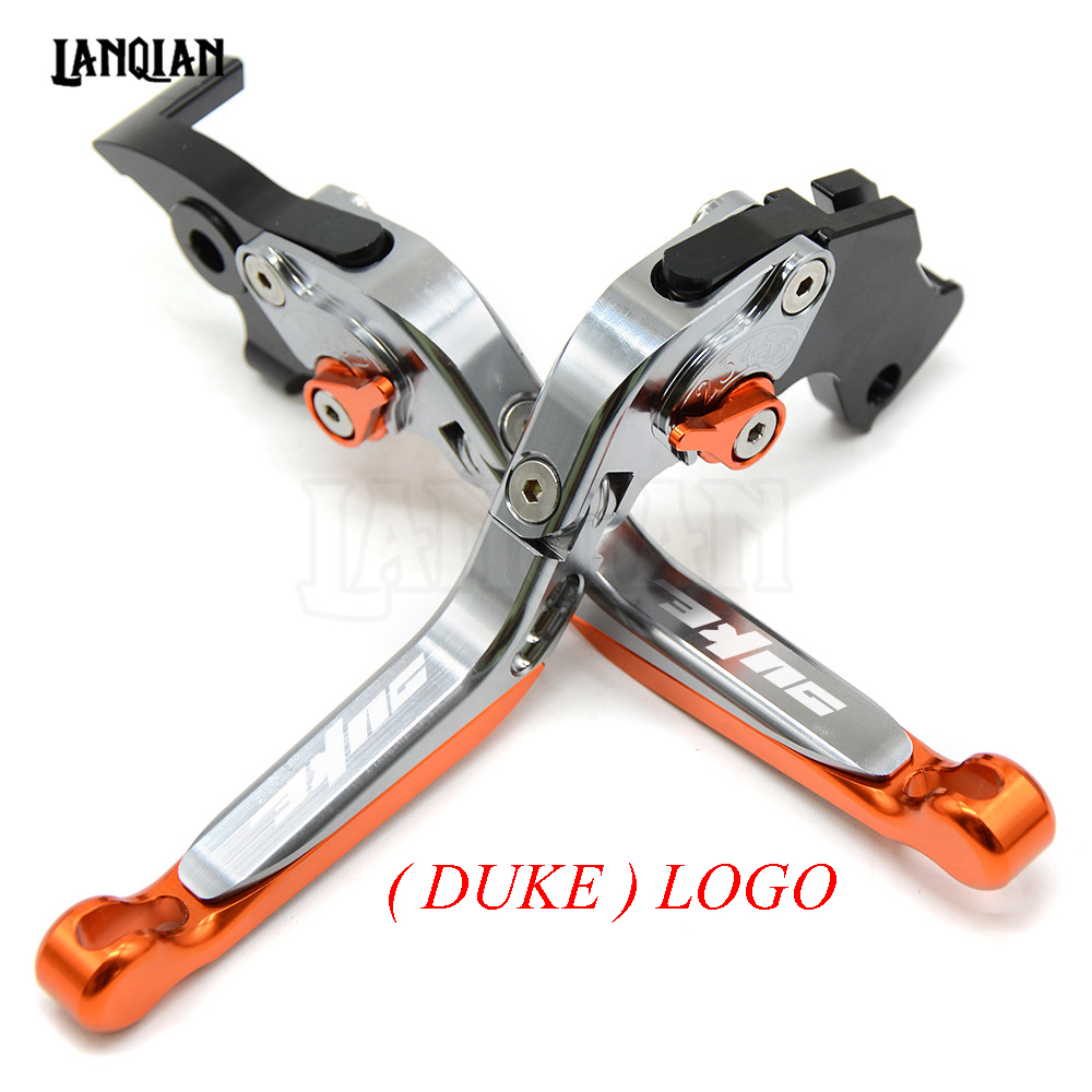 For KTM Duke/RC 390 200 125 CNC Motorcycle Accessories Brakes Clutch Levers Adjustable Folding Extendable Lever 2013-2017 motorcycle aluminum alloy cnc adjustable brake clutch levers for ktm duke 125 duke 200 duke 390