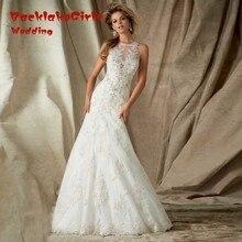 Top Fashionable Top Fashion Beading Lace Mermaid font b Wedding b font font b Dresses b