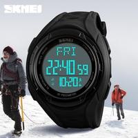 SKMEI Men Digital Watch Luxury Brand Sport Wristwatches Male 12 24 Hour Dual Time Waterproof Pedometer