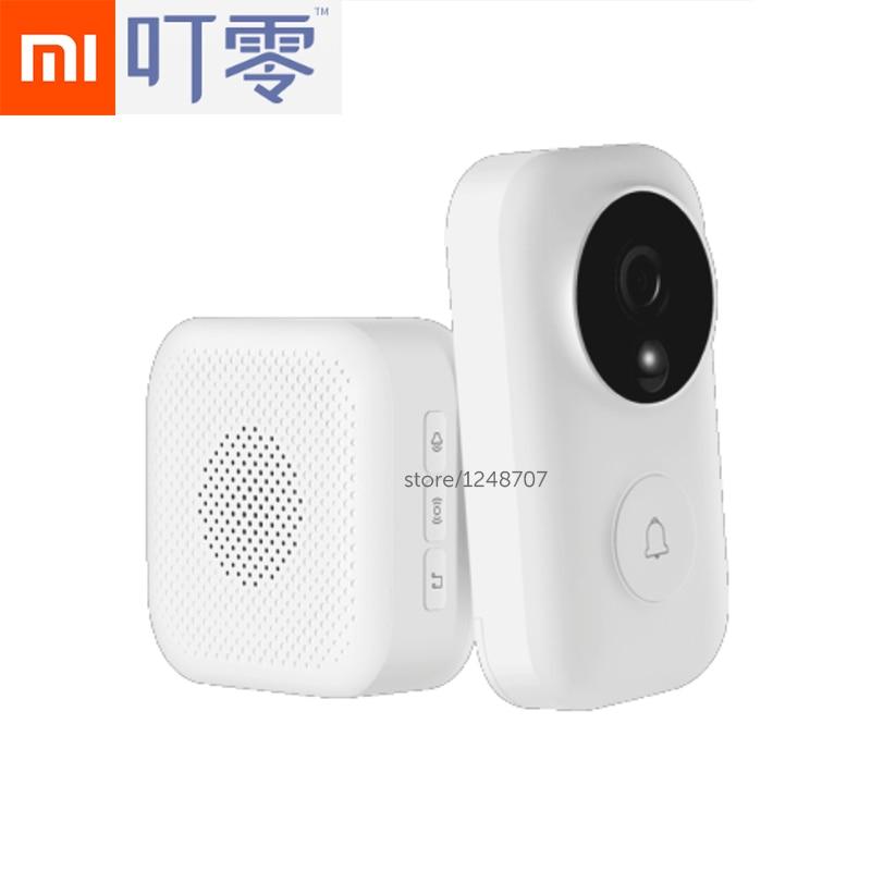 Xiaomi Mijia Campainha AI de Identificação de Face 720 P IR Duas Vias De Áudio e Vídeo De Detecção De Movimento SMS Empurrar Para Interfone Livre Nuvem armazenamento