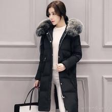 Woman Ukraine Winter Warm Windcheater Hooded Cheap Thick Long Suit H Jacket Faux Fur Collar Coat Palto Parka Button Overcoats
