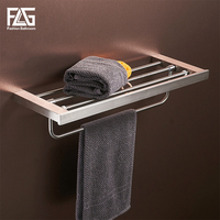 FLG Wall Mount Bathroom Towel Holder Bathroom Stainless Steel Towel Holder Towel Wall Shelf Bath Hardware