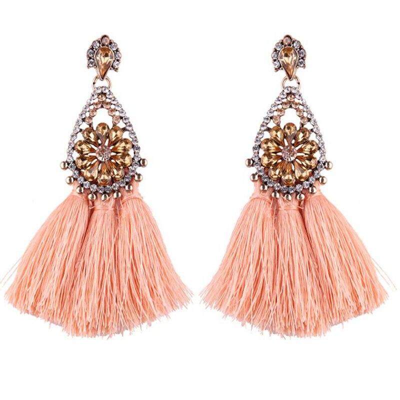 New Boho Drop Dangle Fringe Earring Vintage ethnic Statement Tassel earrings Womens Personalized Fashion Earrings