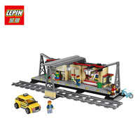LEPIN 02015 456Pcs City Series Train Station Educational Building Block Brick Toy For Children Gift Compatible