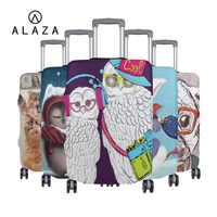 ALAZA Cute Animal Prints Suitcase Protective Cover Luggage Case Travel Accessories Elastic Luggage Dust Cover Fits to 18'' 32''
