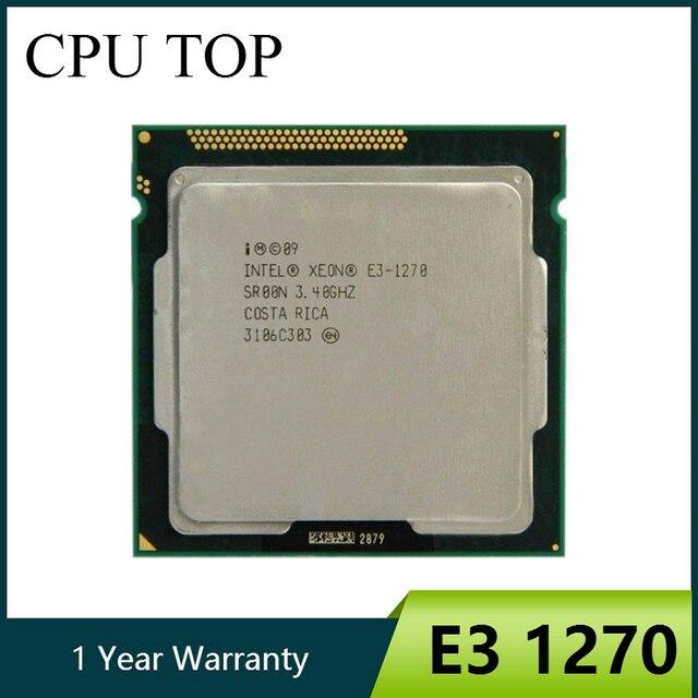 إنتل زيون E3 1270 3.4GHz LGA1155 8MB رباعية النواة معالج وحدة المعالجة المركزية SR00N