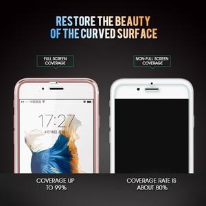 Image 2 - 3Dアルミ合金強化ガラスのためのiphone 6 6s 7 8プラスフルカバーエッジiphone × 10 5 5s、seガラスフィルム