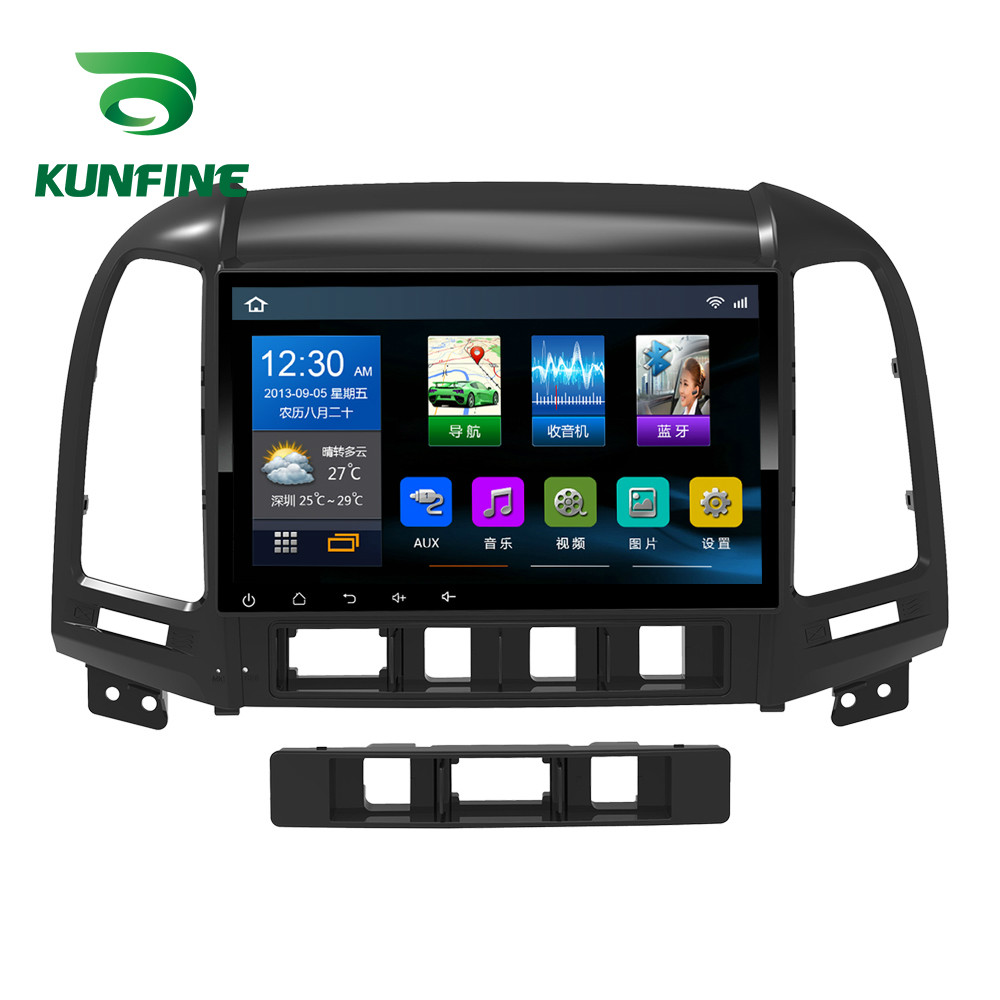 Quad Core 1024*600 Android 6.0 Car DVD GPS Navigation Player Deckless Car Stereo for Hyundai SANTA FE 2006-2012 Headunit Radio octa core android 8 0 car dvd gps player 1024 600 for hyundai ix45 2013 santa fe santafe navigation radio head units 3g wifi