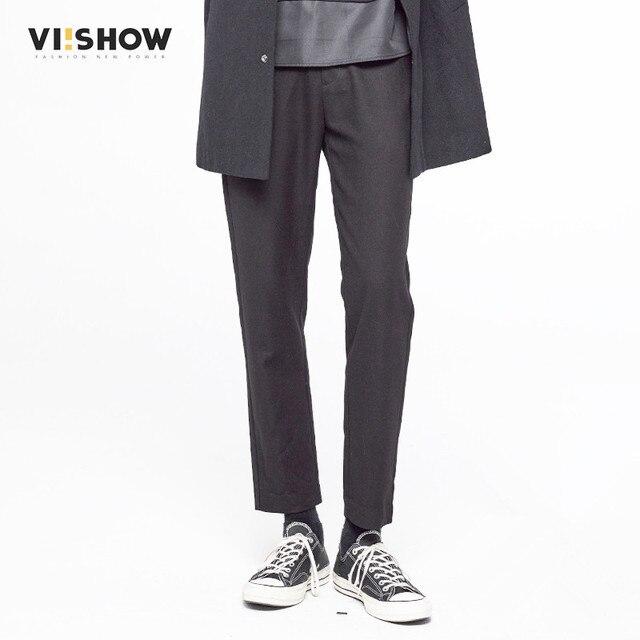 VIISHOW Men Pants Casual Mens BusinessTrousers Warm Straight Men Casual Pants Black Men Clothes Size 29-36 KC16763