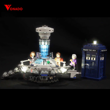Купить с кэшбэком Led Light For Lego 21304 Building Bricks Blocks Creator City Dr Who Time-travel with the Doctor Toys ( light with Battery box)