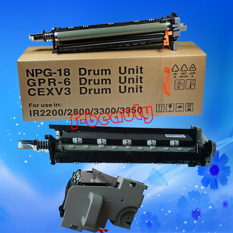 High quality copier drum unit compatible for canon G18 iR2200 2220 2250 2800 2850 IR3300 3320 3350 3300 GPR6  CEXV3