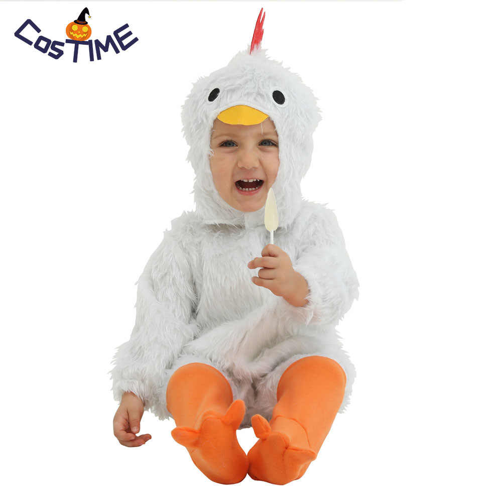 994531a4a Baby Plush White Chicken Costume Toddlers Rooster Chick Easter Animal Fancy Dress  Outfit Halloween Carnival Costumes