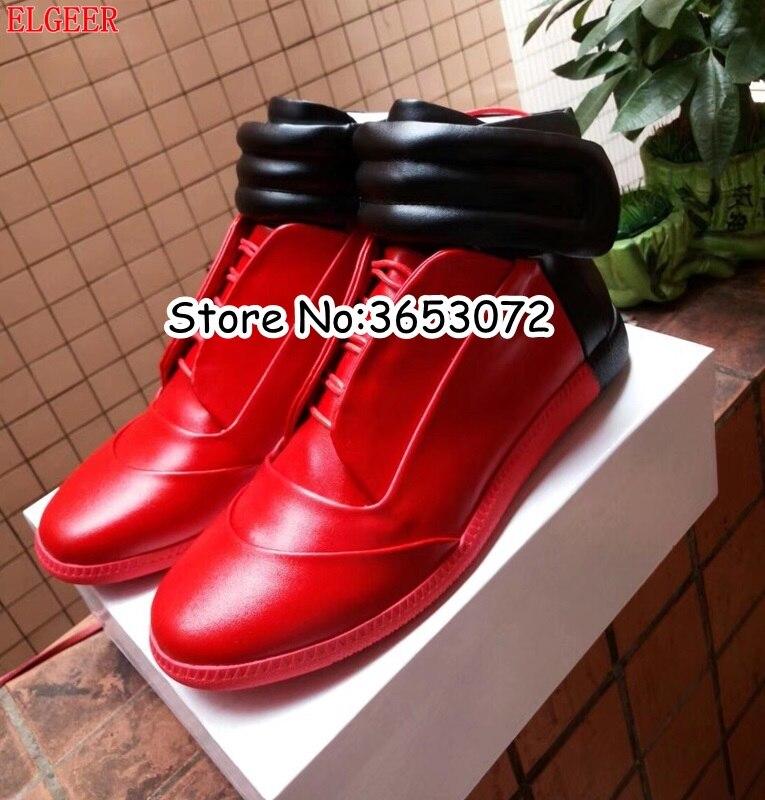 ba52fdb16 Homens Real Preto Marca High amp; Pictures Misturada Sapatilhas The Homem  Hook P As Inverno De Ocasionais Hoop Shoes ...