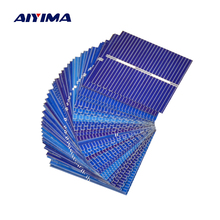 AIYIMA 100pcs Polycrystalline Solar Panel 39*39mm 0.5V 0.25W Solar Battery Silicon DIY Solar Charger Battery Painel Solar