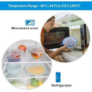 Image 4 - 6 Pcs סיליקון למתוח מכסים לשימוש חוזר אטום מזון לעטוף מכסה שמירה טרי חותם קערת נמתח גלישת כיסוי מטבח כלי בישול