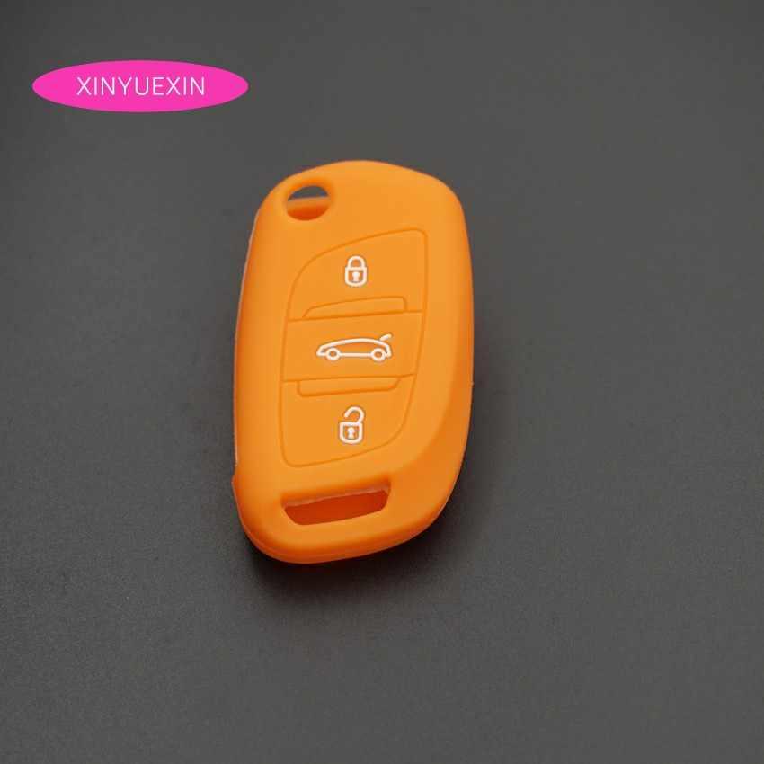 Xinyuexin силиконовый для ключа автомобиля FOB чехол для Citroen C2 C3 C4 купе VTR Berlingo C6 C8 флип дистанционный ключ для автомобиля чехол авто-Стайлинг