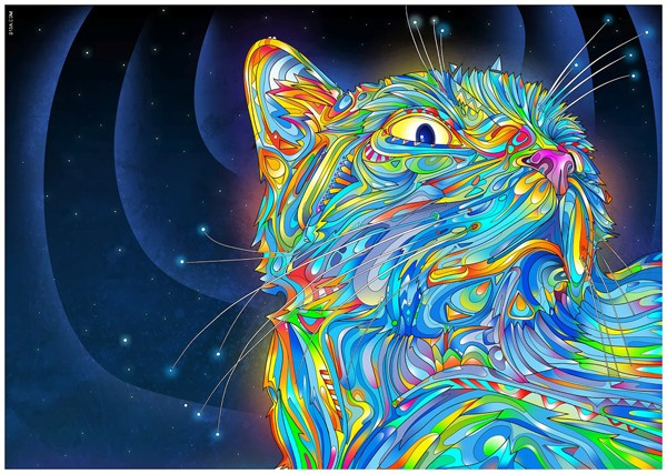 Full Diamond embroidery Colorful cat diamond cross stitch crystal round  sets unfinished decorative diy painting