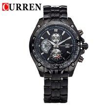 CURREN nueva moda casual reloj de cuarzo de los hombres grandes de dial releather cronógrafo impermeable reloj de pulsera relojes envío gratis 8083
