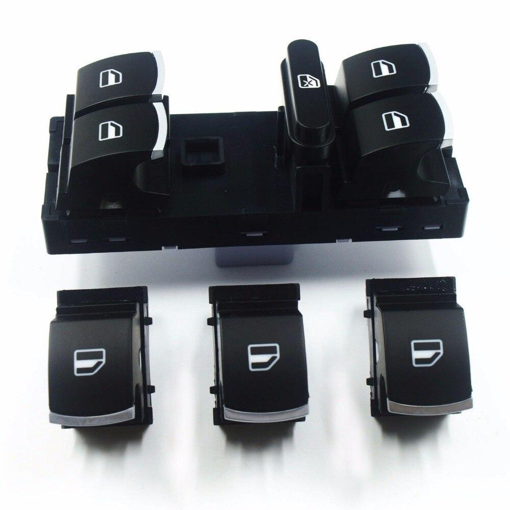 Высококачественная кнопка переключения стеклоподъемника для VW Golf MK5 6 Jetta MK5 Passat B6 Tiguan Polo Altea Touareg 5ND 959 857 5ND 959 855