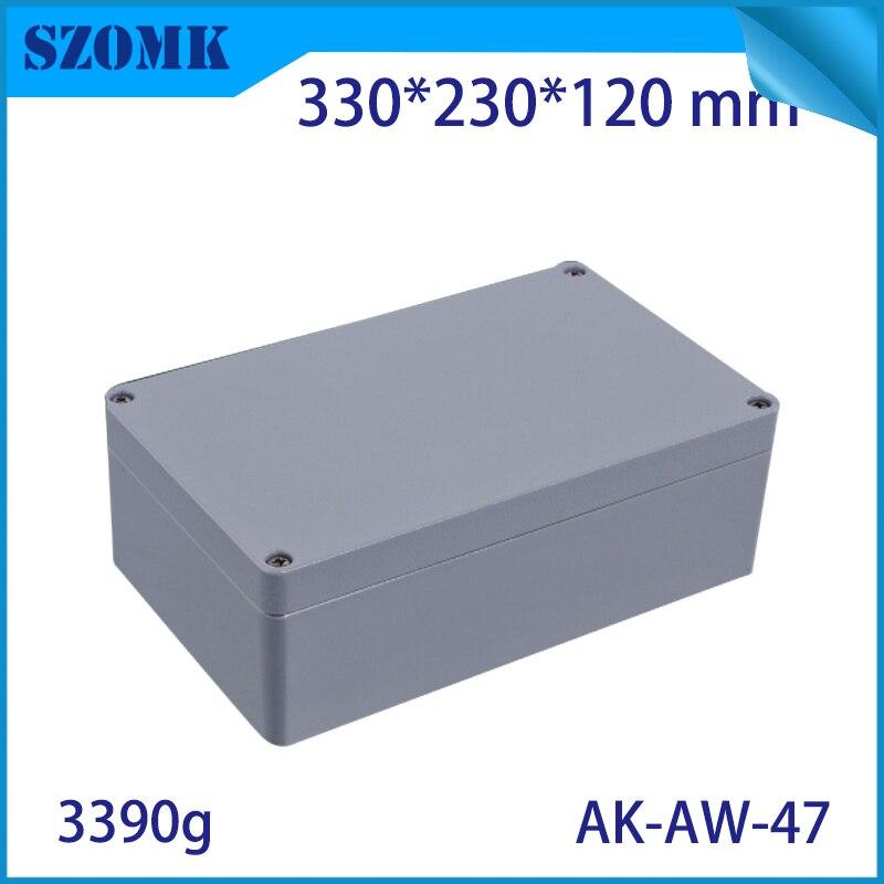 Szomk boîtier en aluminium moulé sous pression IP66 boîte de jonction étanche pour boîtier de projet d'instrument extérieur carte pcb design330x230x120mm