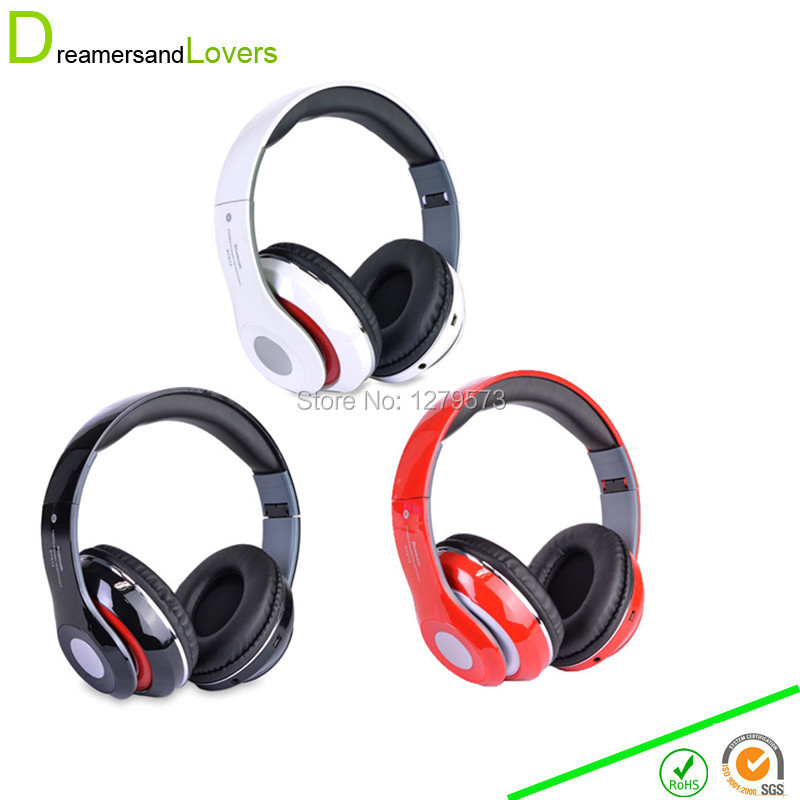 ФОТО Bluetooth Headphone Wireless Earphone Headsets with Built In FM Tuner, Memory Card Slot and Mic for Iphone Samsung Smartphone PC