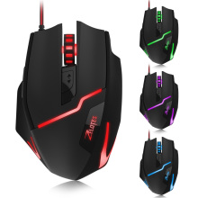 ZELOTES T10 Optical 7200DPI 7D USB Pro Gaming Wired Mouse with LED Backlight(China)