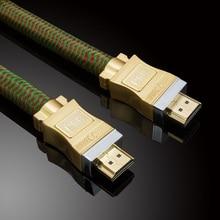 WinAqum Professionnel Niveau HDMI V2.0 Un Type Câble HDMI Standard M/M 4 k 3D 1080 P @ 60Hz Ethernet Ligne HD8817 jusqu'à 20 mètres or