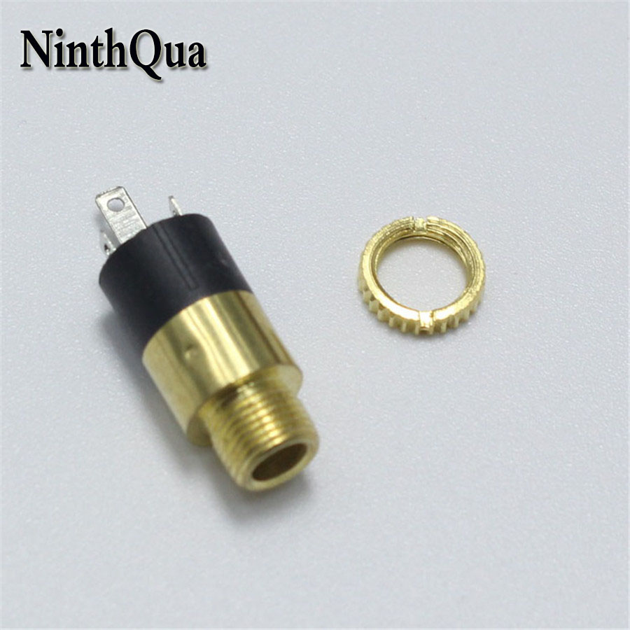 1piece PJ-392 3.5mm Stereo Female Sockect with Screw 3.5 Audio Headphone Jack 3P Vertical Double Channel Connector