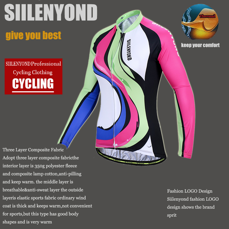 Siilenyond 2019 Pro Winter Thermal Fleece Cycling Jersey Keep Warm Racing Bike Cycling Clothing MTB Bicycle Cycling Clothes 5