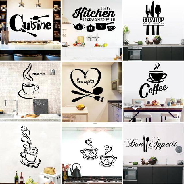 Большая кухня Наклейка на стену Кухня Кофе виниловая наклейка s Плакат Украшение дома аксессуары Фреска Декор обои наклейка на стену s