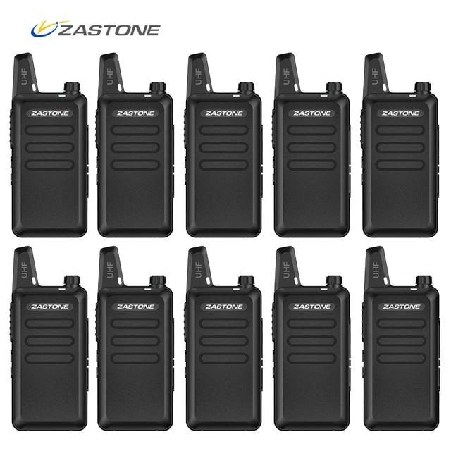 10 ピース/ロット Zastone X6 ハンドヘルドトランシーバー UHF 400 470 mhz 格安価格ミニラジオ Comunicador トランシーバ X6 CB ラジオ & ギフト