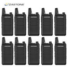 10 개/몫 zastone x6 핸드 헬드 워키 토키 uhf 400 470 mhz 저렴한 가격 미니 라디오 comunicador 트랜시버 x6 cb 라디오 및 선물