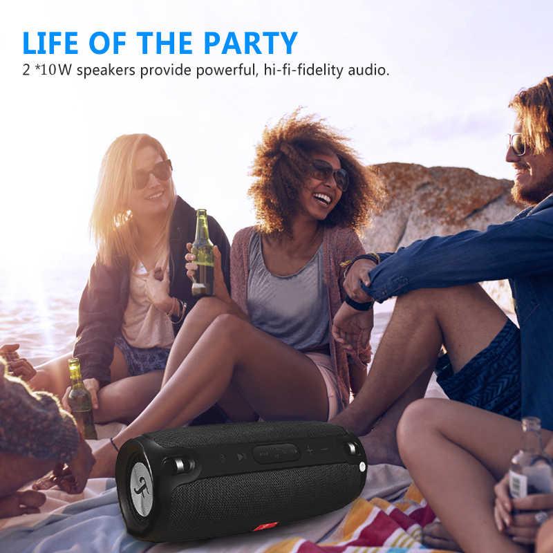 Ini Speaker Portabel Bluetooth Nirkabel Stereo Big Power 20W Sistem TF FM Radio Musik Subwoofer Speaker untuk Komputer
