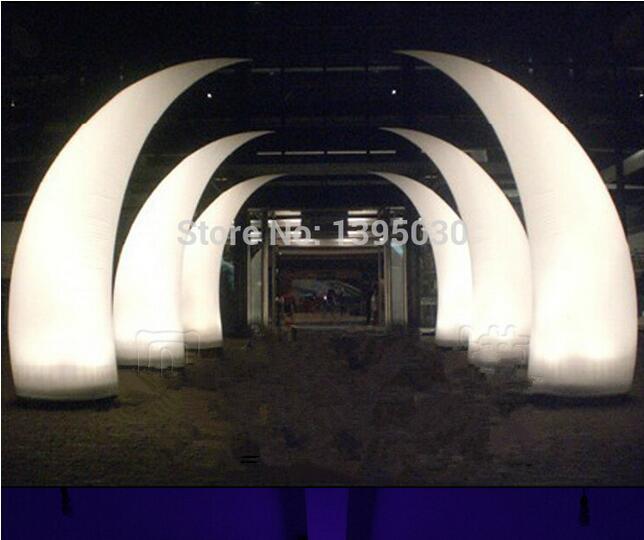 Inflatable tube LED inflatable light with inner blower for hotel celebration dinning room 77CM 1PCS