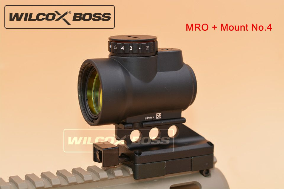 New MRO Style Red Dot Sight Holographic Sight Airsoft Low Mount QD Mount No 4 color