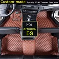 Car Floor Mats for Citroen DS3 DS4 DS5 DS5LS DS6 Car Styling Customized Foot Rugs Custom Carpets