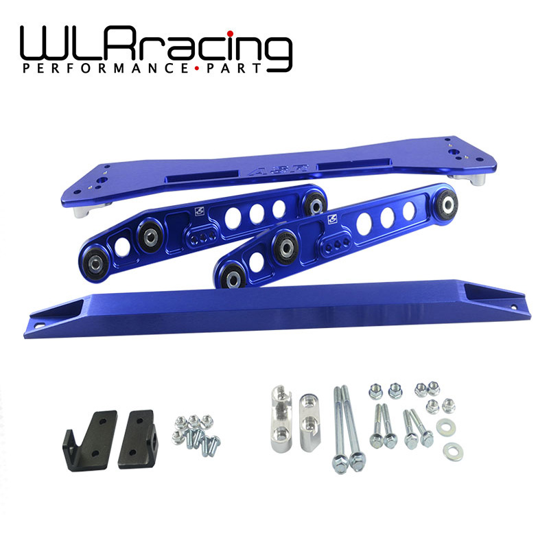 WLRING- ASR SUB FRAME FOR 92-95 Civic 93-97del Sol + EG Rear Lower Control Arm+ 92-95 Tie Bar HQ Anodized Six Color For choose neo chrome rear lower control arm lca for honda civic 2001 2005 e2c