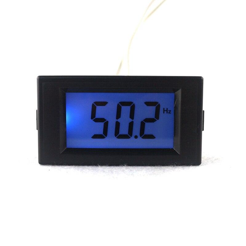 Nuevo contador de frecuencia LCD Digital medidor Herz Tester cymometro 45,0Hz-65,0Hz luz de fondo azul