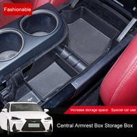 QHCP ABS Center Console Trays Container Box Armrest Storage Case Tray Stowing Tidying Accessories For Lexus IS200T 250 300 GS300
