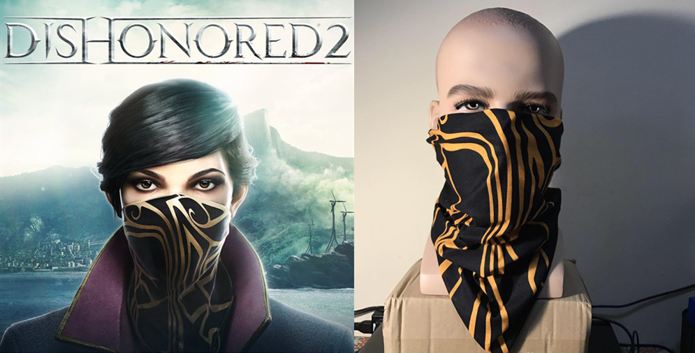 Game Dishonored 2 Mask Dishonored II Emily Drexel Lela Kaldwin Cosplay Mask Cosplay Props Costume Scarf