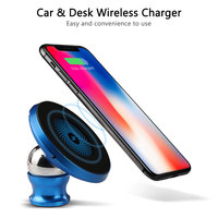 Car Holder Wireless Charger Mount Qi Charge 360 Degree Rotation Wireless Charging Pad Car Stand For