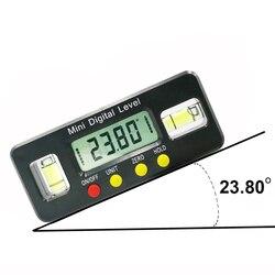 Buscador del ángulo del transportador digital de 100mm inclinómetro caja de nivel electrónico con herramienta de carpintero de medición de ángulo magnético