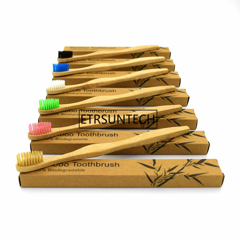 100% Bamboo Toothbrush Wood toothbrush Novelty Bamboo nylon Bamboo Fibre Wooden Handle F1420 image