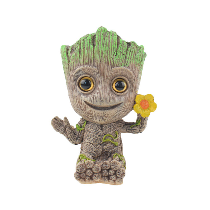 Cute Tree Man Figurine Garden Aquarium Decoration Root Air Bubble Driftwood Statue Fish Tank Background Ornament Rock Shelter2