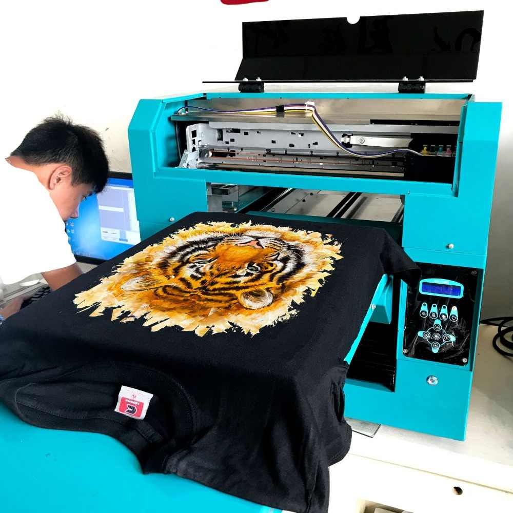 DTG Kain Garmen Kain Mesin Cetak Digital T Shirt Printer