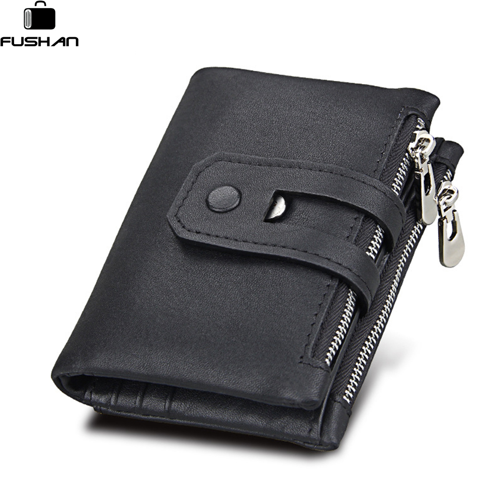 New Design Brand Men Wallets 100% Genuine Leather Purse with Credit Card Holder Male Wallet Zipper Coin Pocket Photo Holder tauren trifold wallets men wallet 100% design men fashion purse card holder wallet man genuine leather with zipper coin pockets