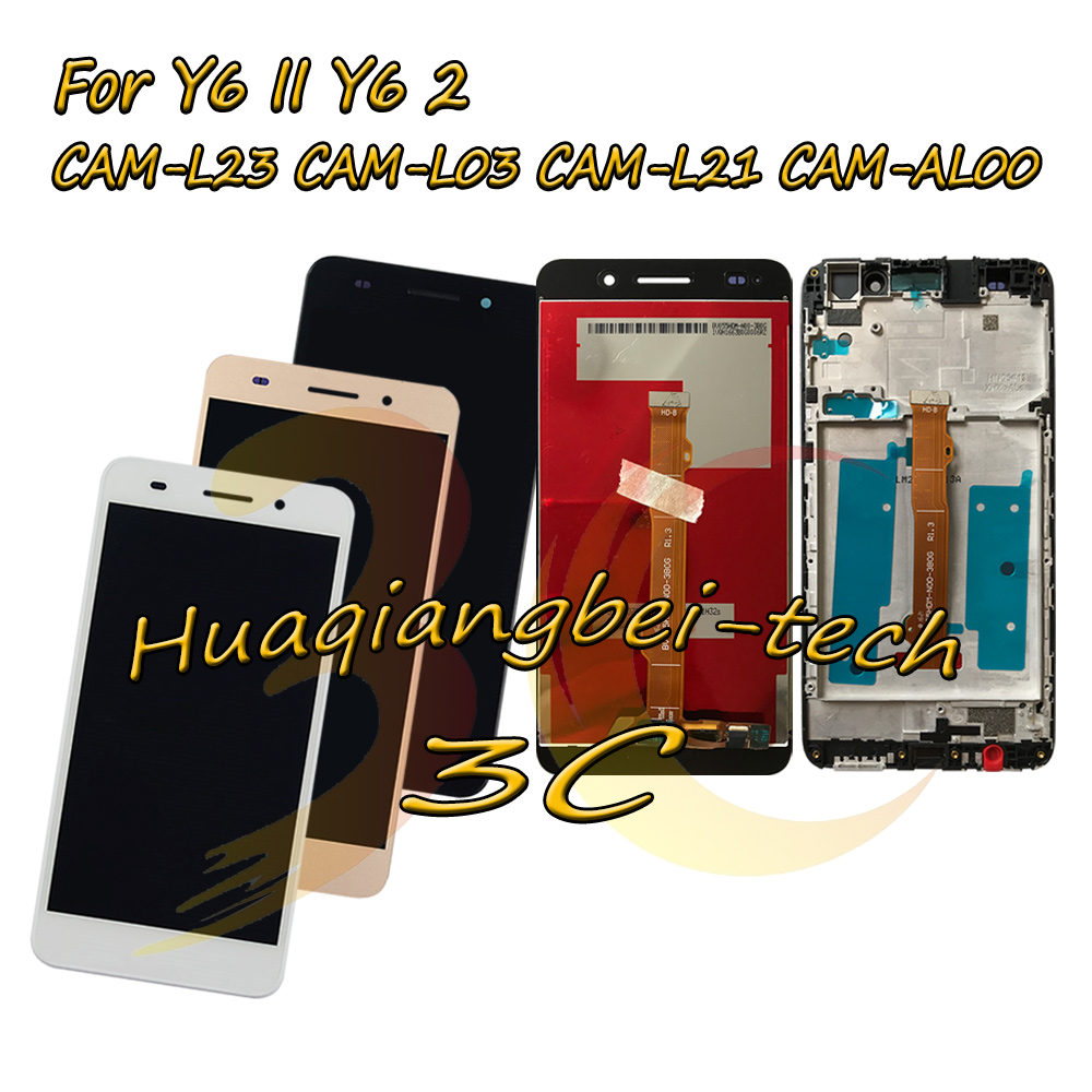 5.5 For Huawei Y6II Y6 II CAM-L23 CAM-L03 CAM-L21 CAM-AL00 Full LCD DIsplay + Touch Screen Digitizer Assembly + Frame Cover