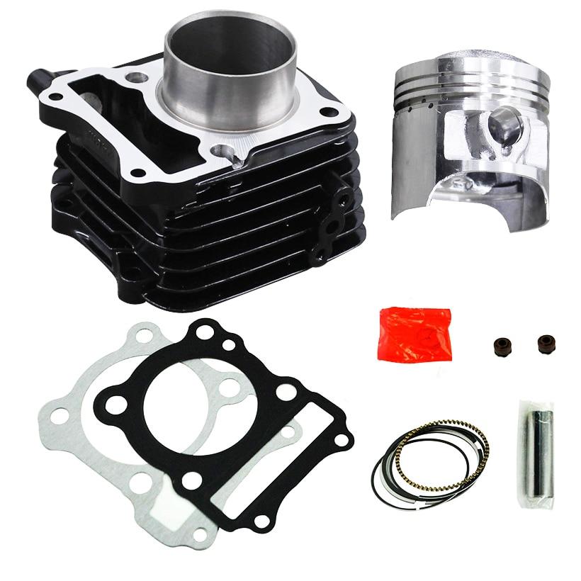 LOPOR Moto Piston 62mm Cylindre kit pour Suzuki EN125 GS125 GN125 GZ125 DR125 TU125 150cc Moteur Modifié avec joint